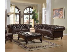 Awe Inspiring Irving Blvd Furniture Shantoria Dark Brown Bonded Leather Caraccident5 Cool Chair Designs And Ideas Caraccident5Info