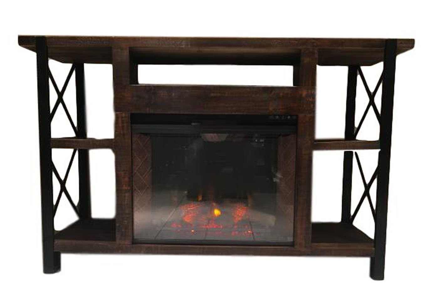 JON X IRON FIREPLACE STAND,VINTAGE FURNITURE LLC