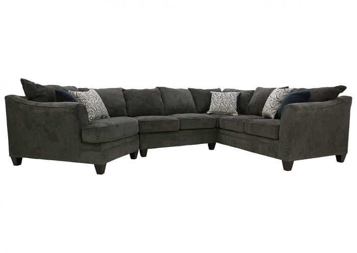 Tremendous Ivan Smith Abigail Pewter 3 Piece Sectional Pdpeps Interior Chair Design Pdpepsorg