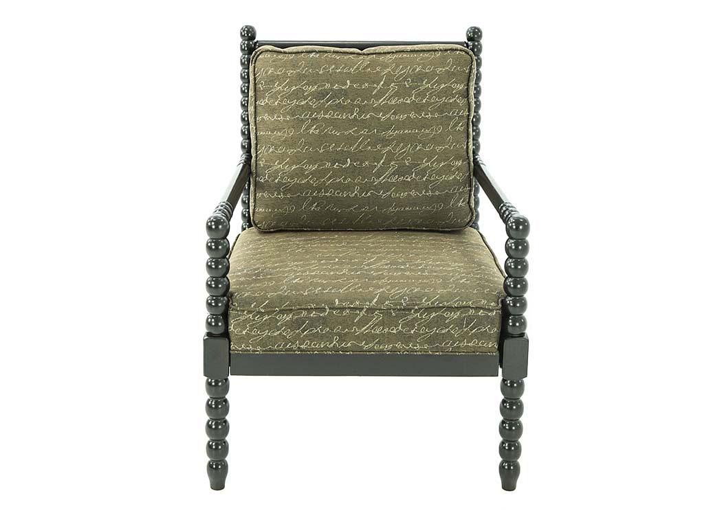 Ivan Smith Milari Linen Umber Accent Chair