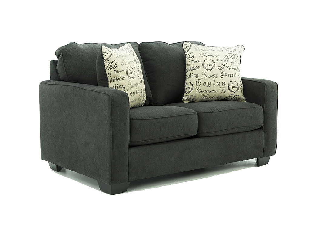 Marvelous Ivan Smith Alenya Charcoal Loveseat Ncnpc Chair Design For Home Ncnpcorg