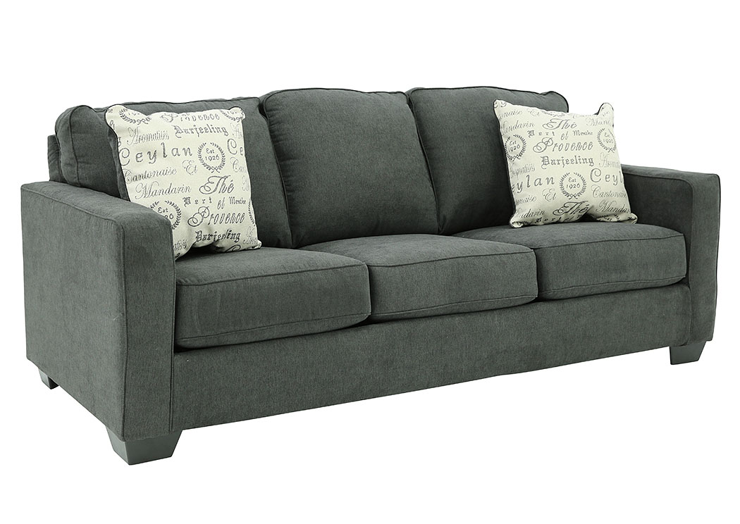 Super Ivan Smith Alenya Charcoal Queen Sofa Sleeper Ncnpc Chair Design For Home Ncnpcorg