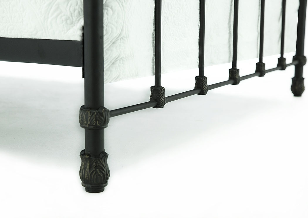 PRIMITIVE BLACKENED BRONZE COLONNADE KING BED,MAGNOLIA HOME FURNISHINGS