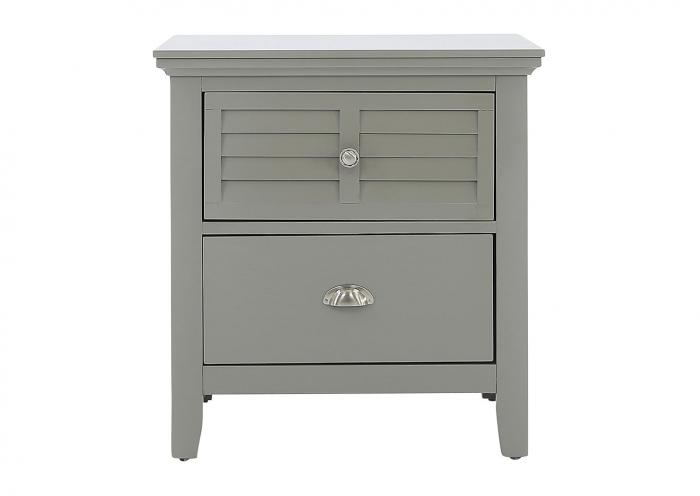 SPENCER GREY NIGHTSTAND,LIFESTYLE FURNITURE