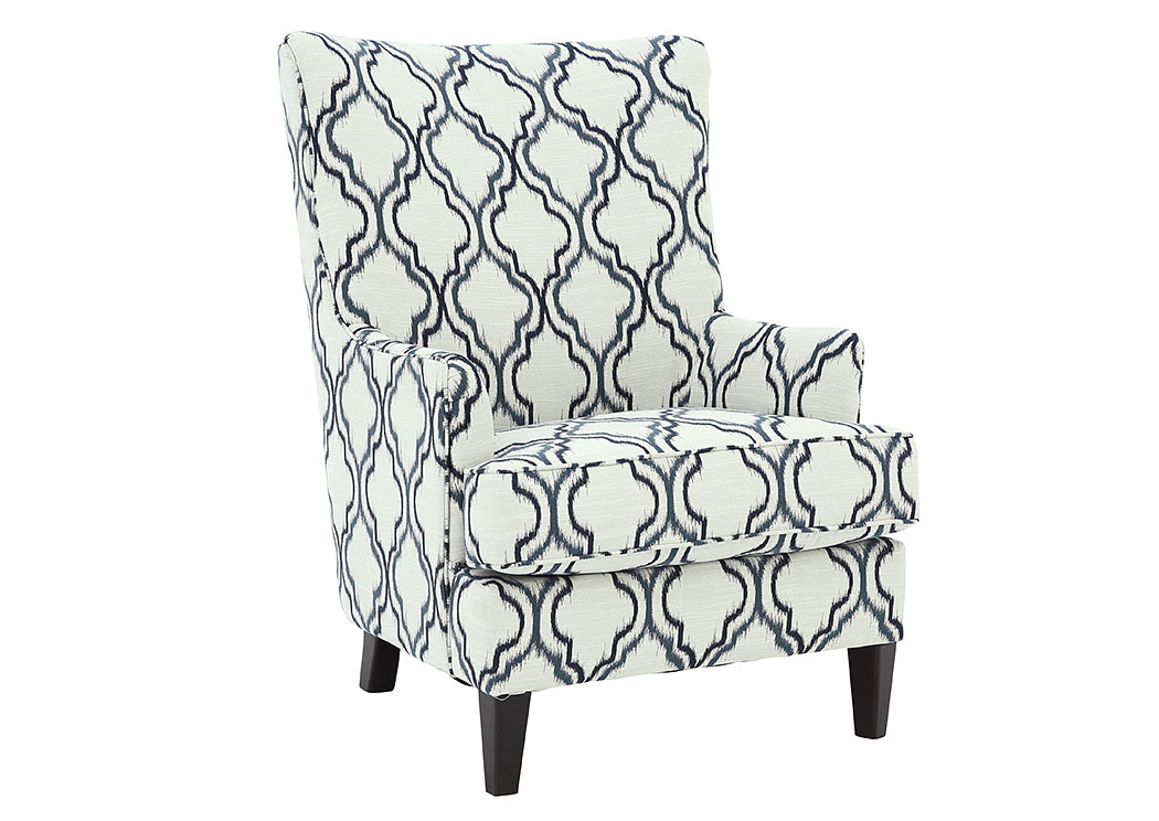 Tremendous Ivan Smith Lavernia Indigo Accent Chair Gmtry Best Dining Table And Chair Ideas Images Gmtryco