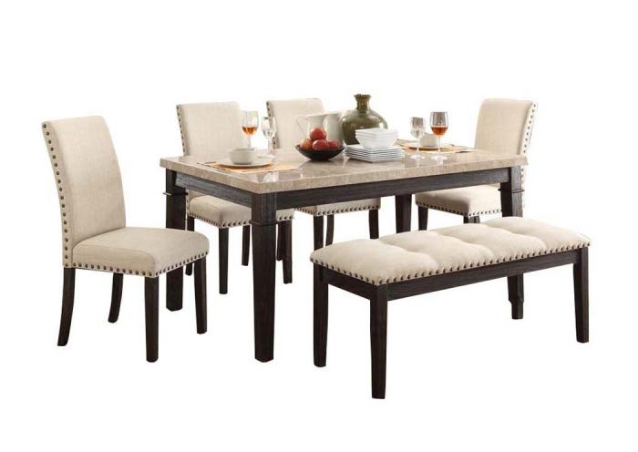 GREYSTONE FABRIC 6 PIECE DINING SET,ELEMENTS INTERNATIONAL GROUP, LLC