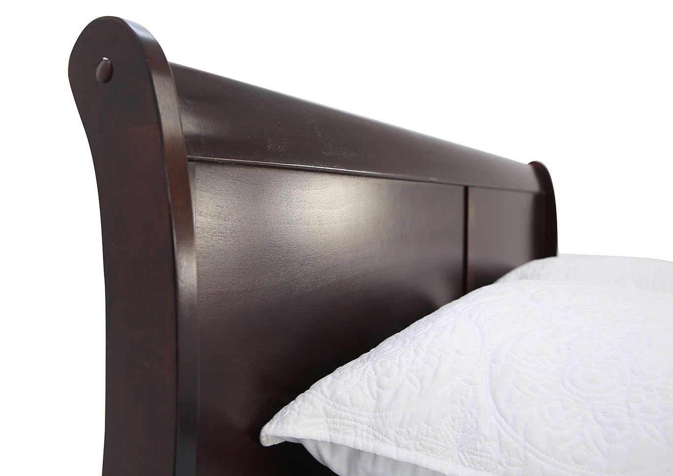 LOUIS PHILIP CHERRY QUEEN BED ,CROWN MARK INT.