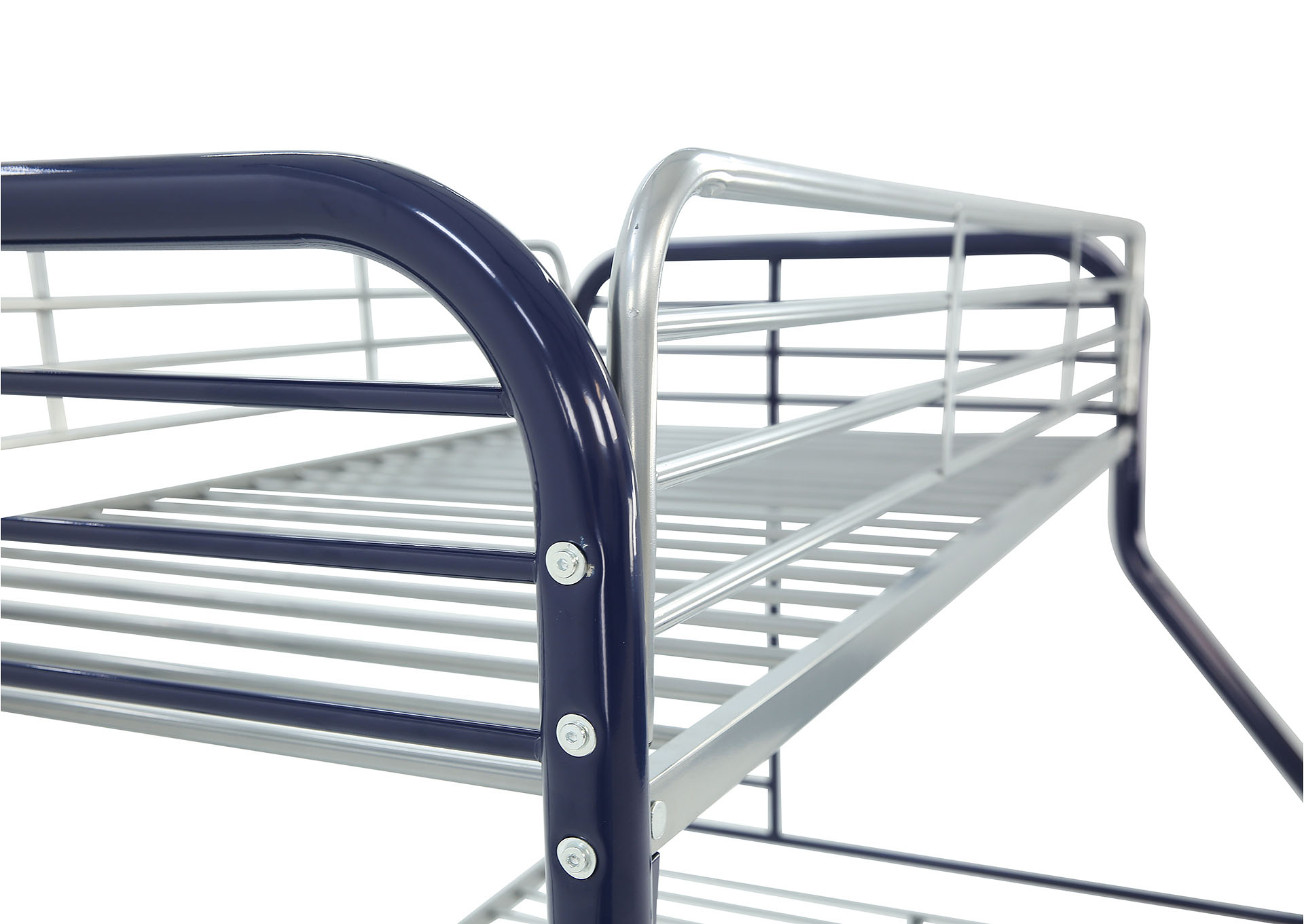MADISYN BLUE/SILVER TWIN/FULL BUNKBED,KITH FURNITURE