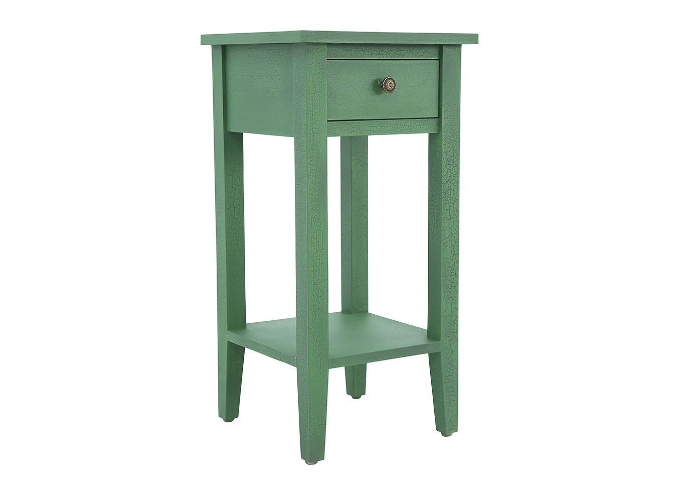 - OLIVE GREEN CRACKLE ACCENT TABLE Ivan Smith