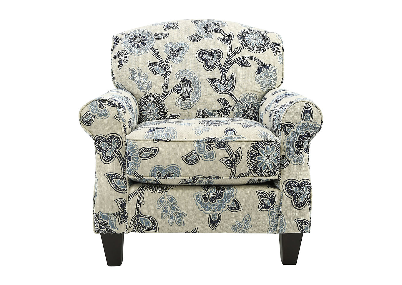 Ivan Smith Catalina Maya Indigo Floral Accent Chair