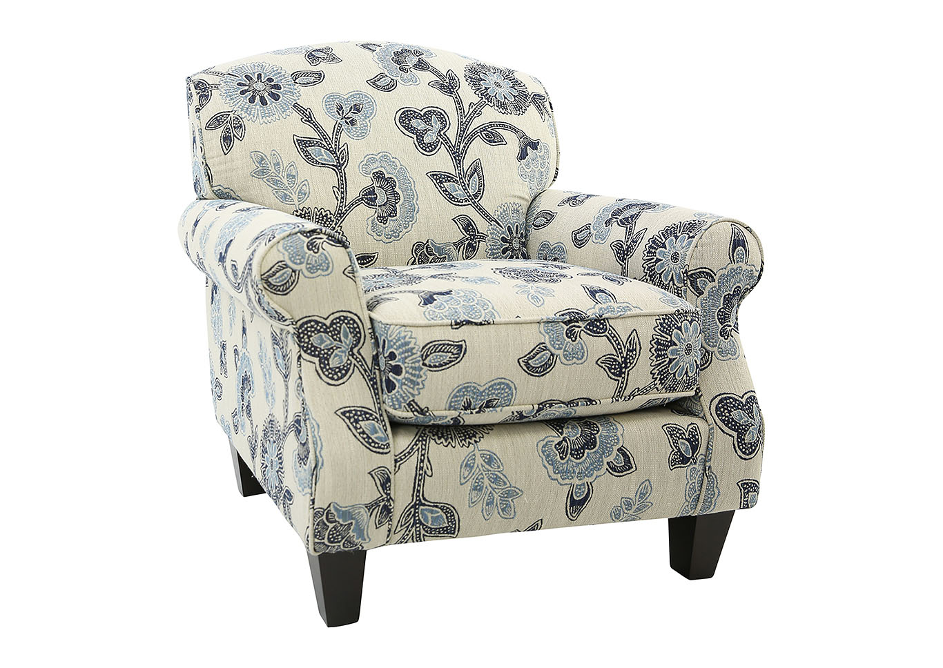 Enjoyable Ivan Smith Catalina Maya Indigo Floral Accent Chair Gmtry Best Dining Table And Chair Ideas Images Gmtryco
