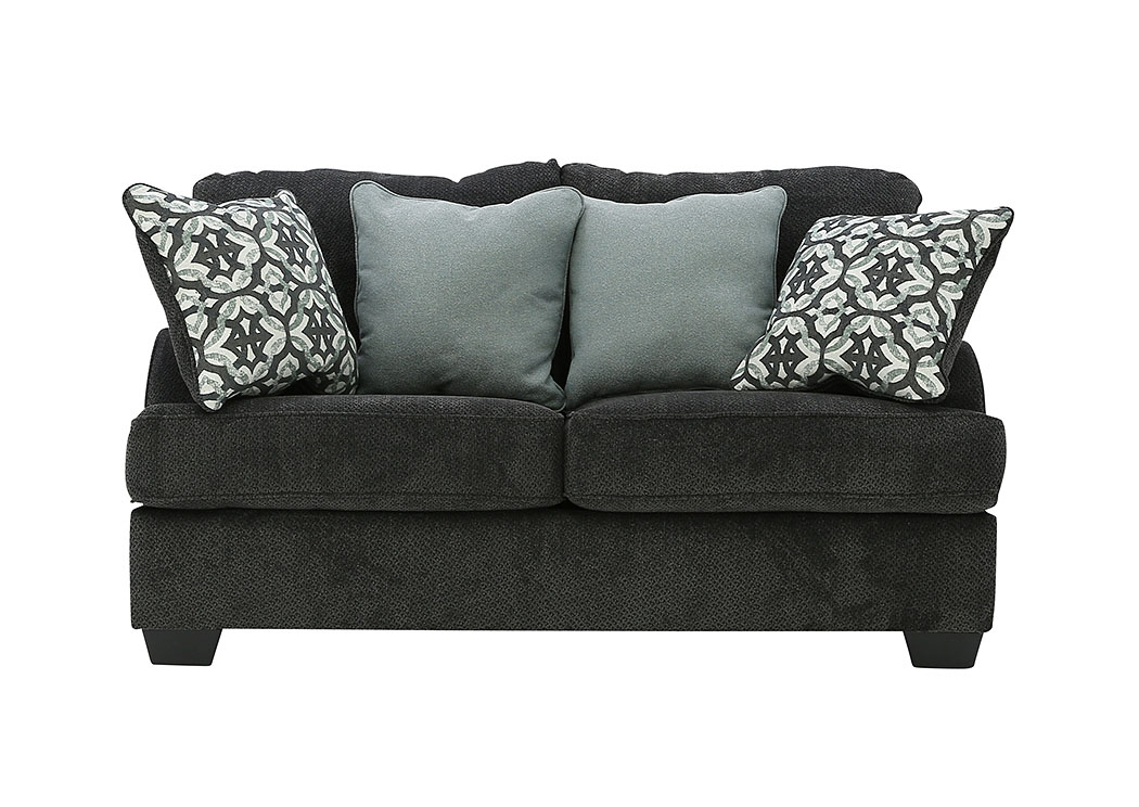 Marvelous Ivan Smith Charenton Charcoal Loveseat Creativecarmelina Interior Chair Design Creativecarmelinacom