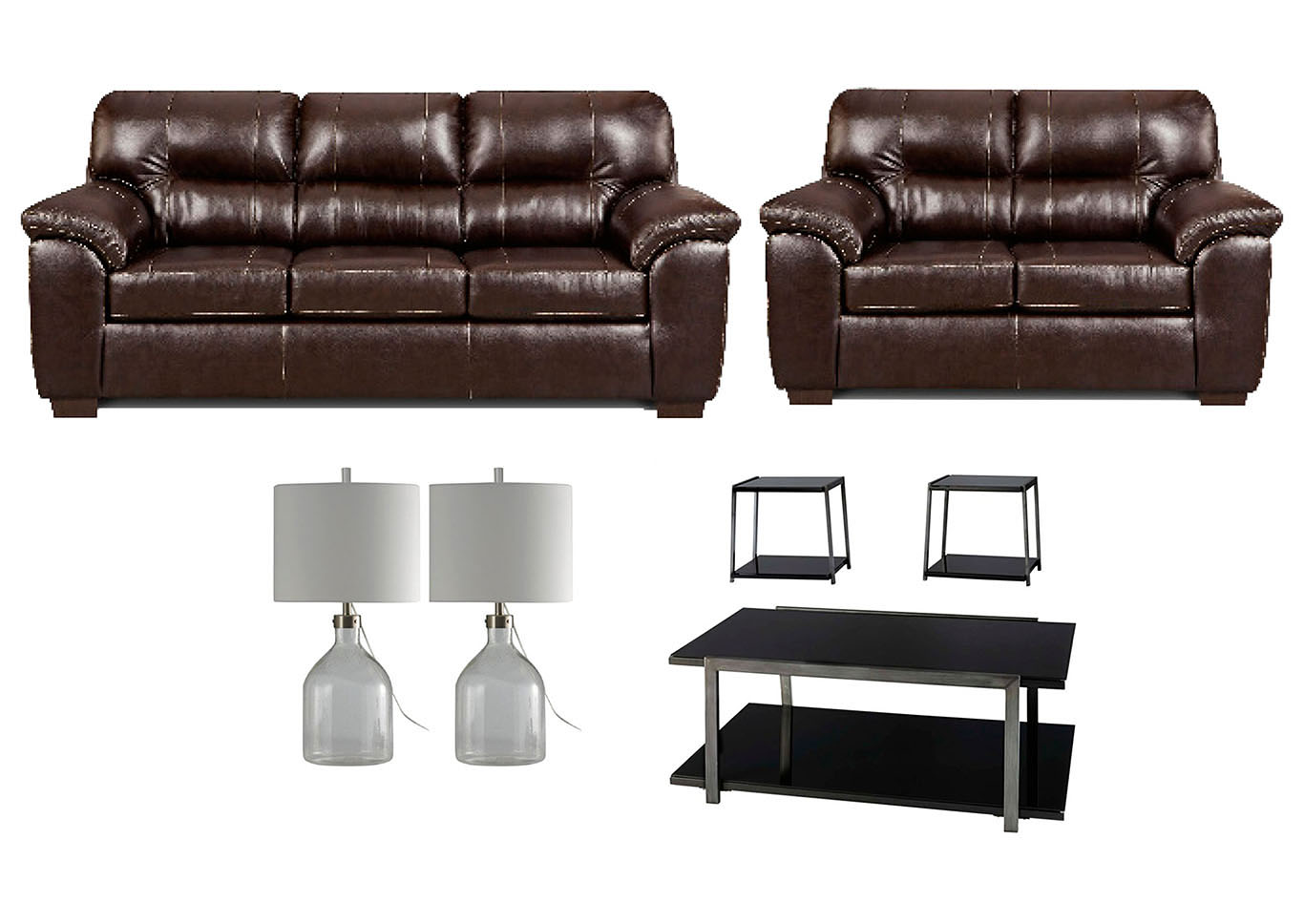 Ivan Smith AUSTIN CHOCOLATE LIVING ROOM SET
