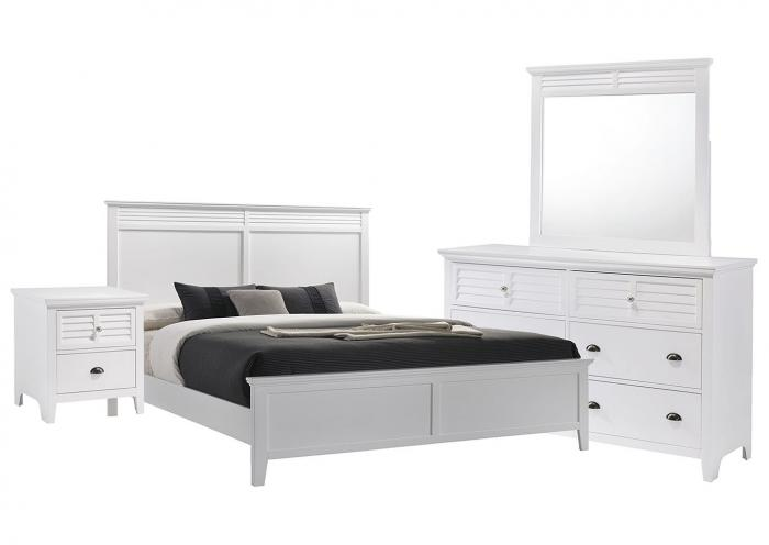 Ivan Smith SPENCER WHITE QUEEN BEDROOM SET