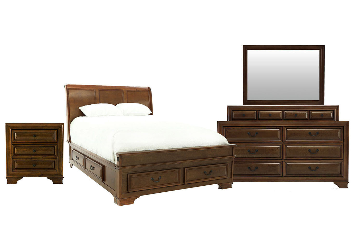 REMINGTON DARK CHERRY QUEEN BEDROOM SET,LIFESTYLE FURNITURE