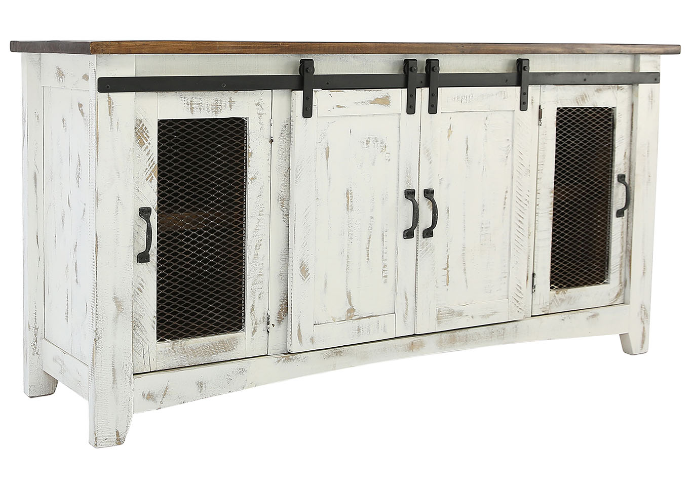 Ivan Smith Pueblo Barn Door Tv Stand