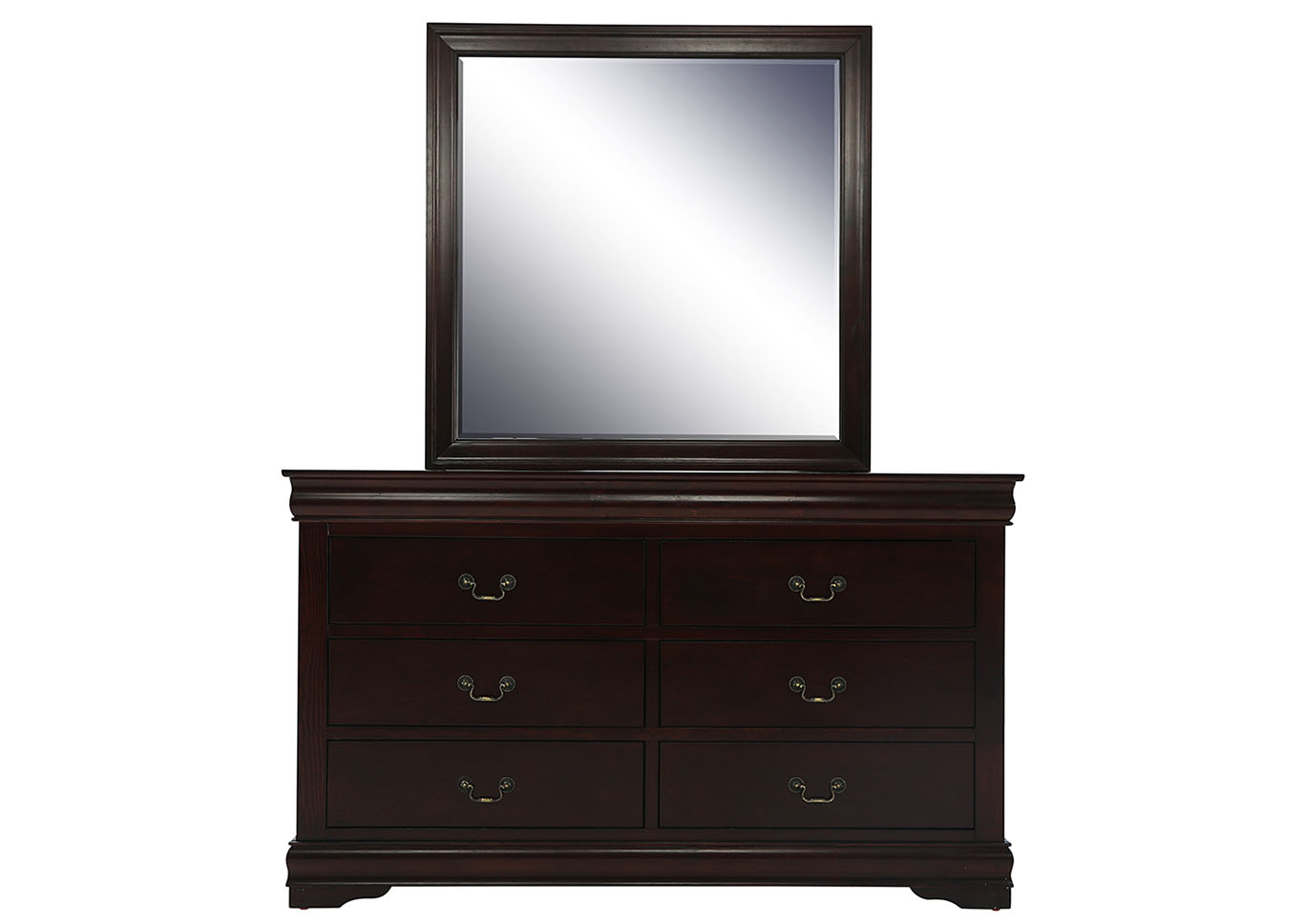 LOUIS PHILIP CHERRY DRESSER AND MIRROR,CROWN MARK INT.