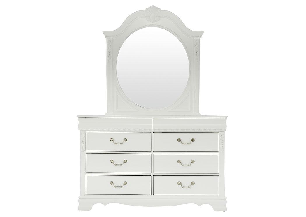 Ivan Smith Jessica White Dresser And Mirror Set
