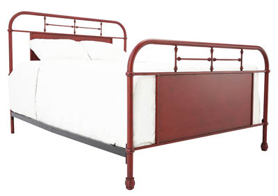 JOLENE VINTAGE RED QUEEN BED