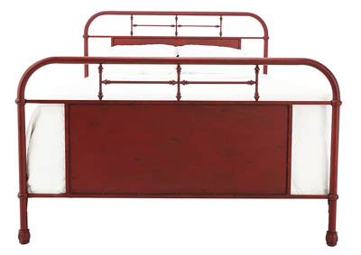 JOLENE VINTAGE RED QUEEN BED,LIBERTY FURNITURE