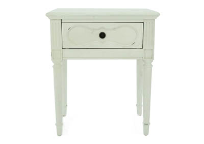 FRENCH INSPIRED JO S WHITE CAMEO NIGHT TABLE