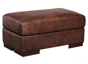 ISLEBROOK CANYON LEATHER OTTOMAN