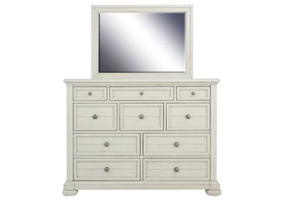 NASHVILLE WHITE DRESSER AND MIRROR