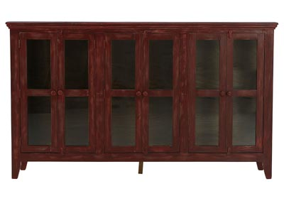 SARITA ANTIQUE RED CONSOLE