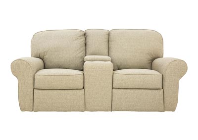 JANE SAGE RECLINING LOVESEAT WITH CONSOLE