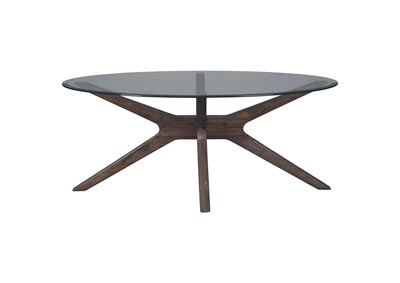 Image for ZANNORY GRAY OVAL COCKTAIL TABLE