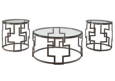 FROSTINE 3 PIECE OCCASIONAL TABLE SET