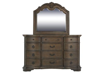 TULSA DRESSER AND MIRROR
