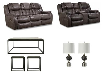 CASON STEEL LIVING ROOM SET