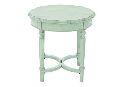 FRENCH INSPIRED FRENCH BLUE PIE CRUST SHORT END TABLE