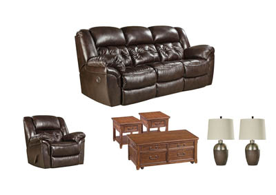 Image for HUDSON CHOCOLATE LIVING ROOM SET