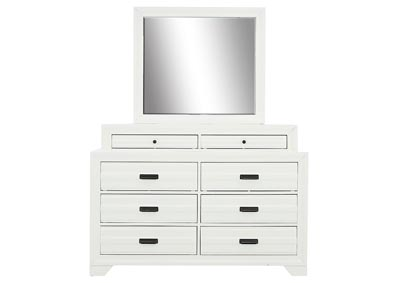 ASLINN WHITE DRESSER AND MIRROR