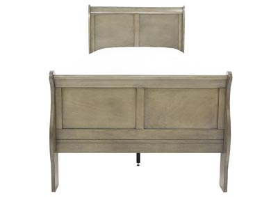 LOUIS PHILIP GREY TWIN BED