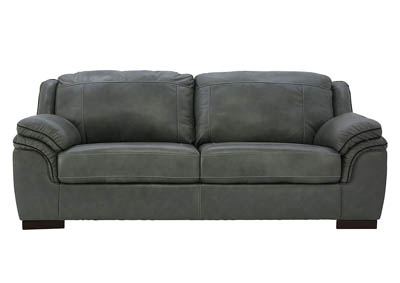 ISLEBROOK IRON LEATHER AND LEATHER MATCH SOFA