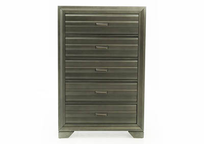 Image for ASLINN ANTIQUE GREY CHEST