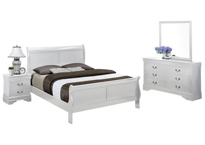 LOUIS PHILIP WHITE FULL BEDROOM SET