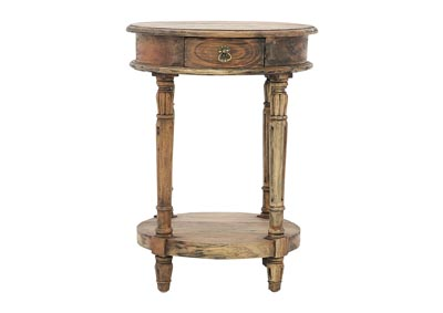 CAROLYN JAVANESE ROUND ACCENT TABLE