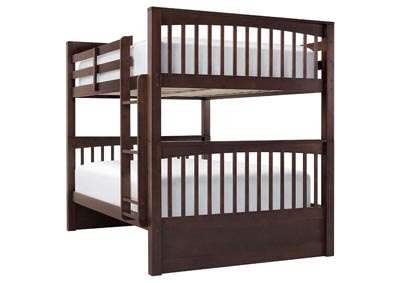 LAUREN CHOCOLATE FULL OVER FULL BUNKBED