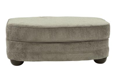 MADELYN PEWTER OVAL OTTOMAN