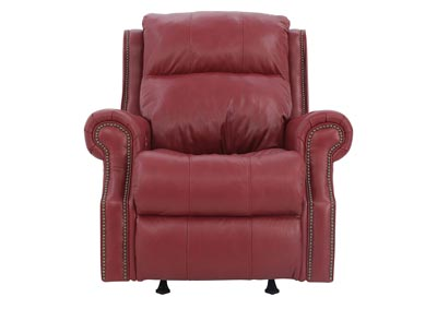 VIVIO POWER STRAWBERRY LEATHER RKR RECLINER