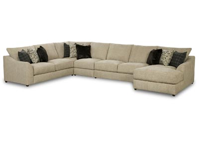 KYRA MARBLE 5 PIECE SECTIONAL
