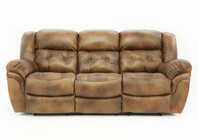HUDSON SADDLE LEATHER RECLINING SOFA