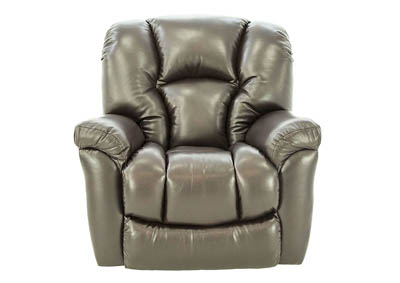 JAXON MAHOGANY BONDED LEATHER ROCKER RECLINER