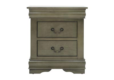 LOUIS PHILIP GREY NIGHTSTAND