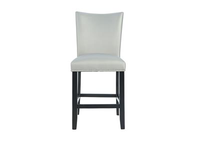 CAMILA COUNTER HEIGHT SILVER SIDE CHAIR