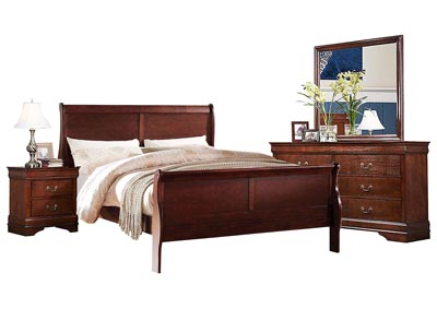 LOUIS PHILIP CHERRY KING BEDROOM SET